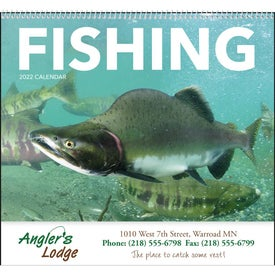 Branded Fishing Spiral Calendar