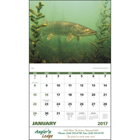 Fishing - Stapled Calendar Imprinted with Your Logo