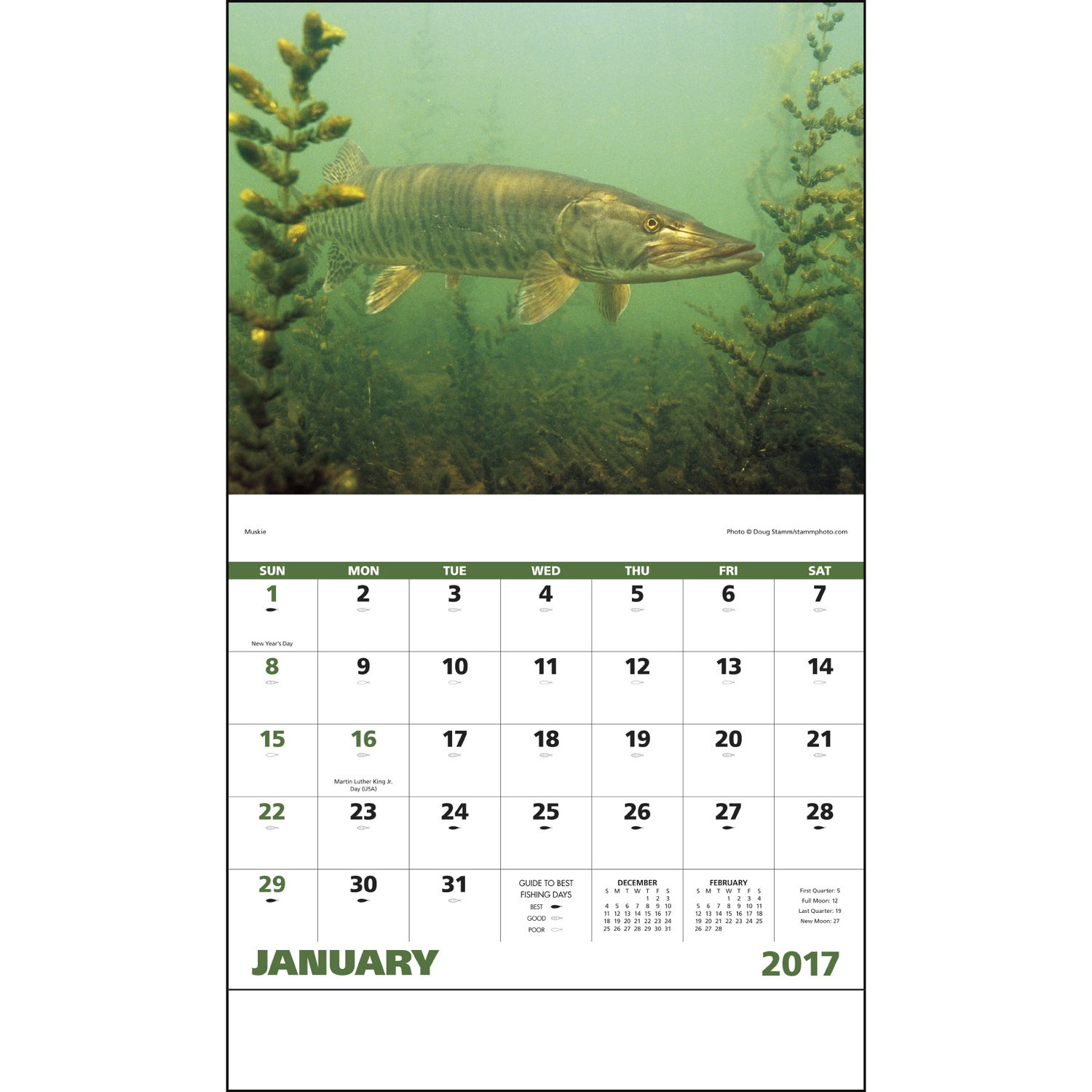 fishing stapled calendar 2017 custom calendars 1