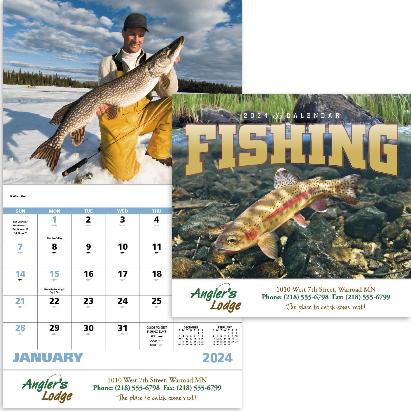 Fishing - Stapled Calendar (2020)