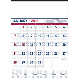 Monogrammed Flag Contractor Memo Calendar