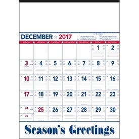 Flag Contractor Memo Calendar with Your Slogan
