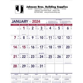 Flag Contractor Memo Calendar (13-Sheet, 2019)