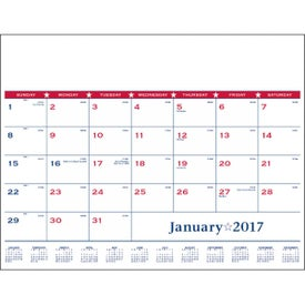 Printed Flag Desk Pad Calendar