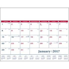 Printed Flag Desk Pad Calendar
