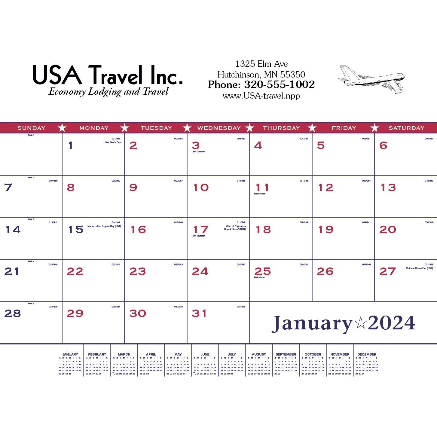 Flag Desk Pad Calendar (2020)