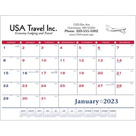 Flag Desk Pad Calendar (2014)