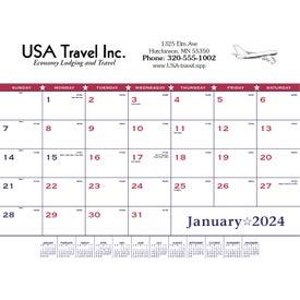 Flag Desk Pad Calendar for Customizat