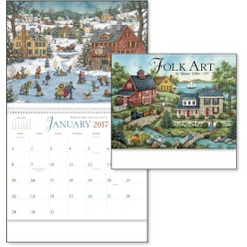 Imprinted Folk Art Appointment Calendar