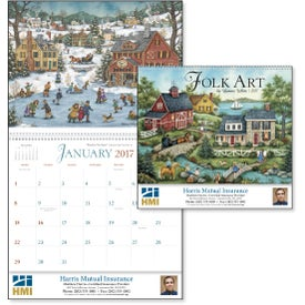 Branded Folk Art Appointment Calendar