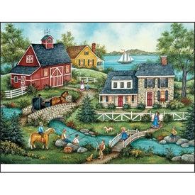 Monogrammed Folk Art Appointment Calendar