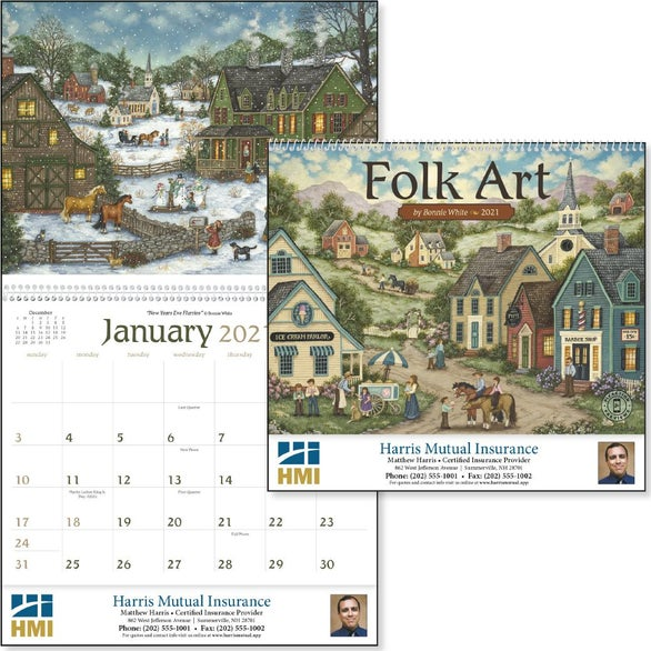 See Item Folk Art Appointment Calendar