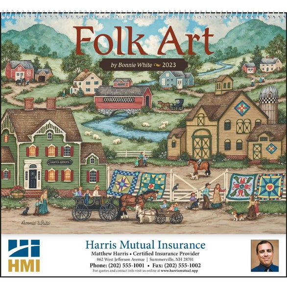 Folk Art Appointment Calendar