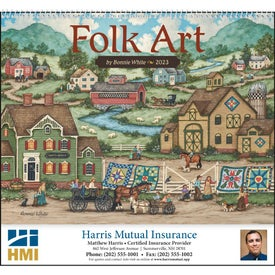 Printed Folk Art Appointment Calendar