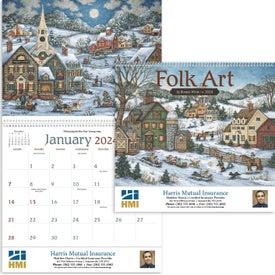 Printed Folk Art Appointment Calendar