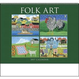 Company Folk Art Spiral Calendar
