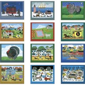 Personalized Folk Art Spiral Calendar
