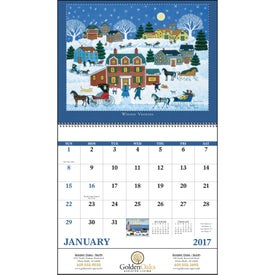 Folk Art Spiral Calendar Giveaways