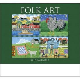Folk Art Stapled Calendar for Promotion