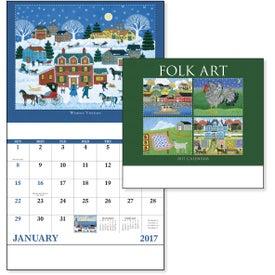 Folk Art Stapled Calendar for Your Company
