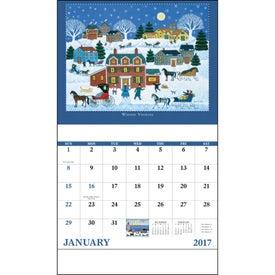 Folk Art Stapled Calendar for Your Church