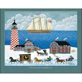 Advertising Folk Art Stapled Calendar
