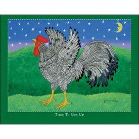 Folk Art Stapled Calendar with Your Logo