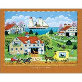 Folk Art Stapled Calendar for Marketing