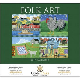 Company Folk Art Stapled Calendar