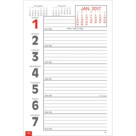Custom Full-Color Weekly Memo Calendar