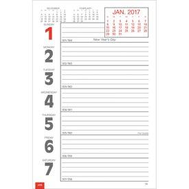 Custom Full-Color Weekly Memo Calendar