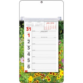 Full-Color Weekly Memo Calendar Branded with Your Logo