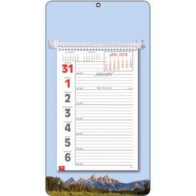 Printed Full-Color Weekly Memo Calendar