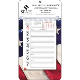 Full-Color Weekly Memo Calendar Printed with Your Logo