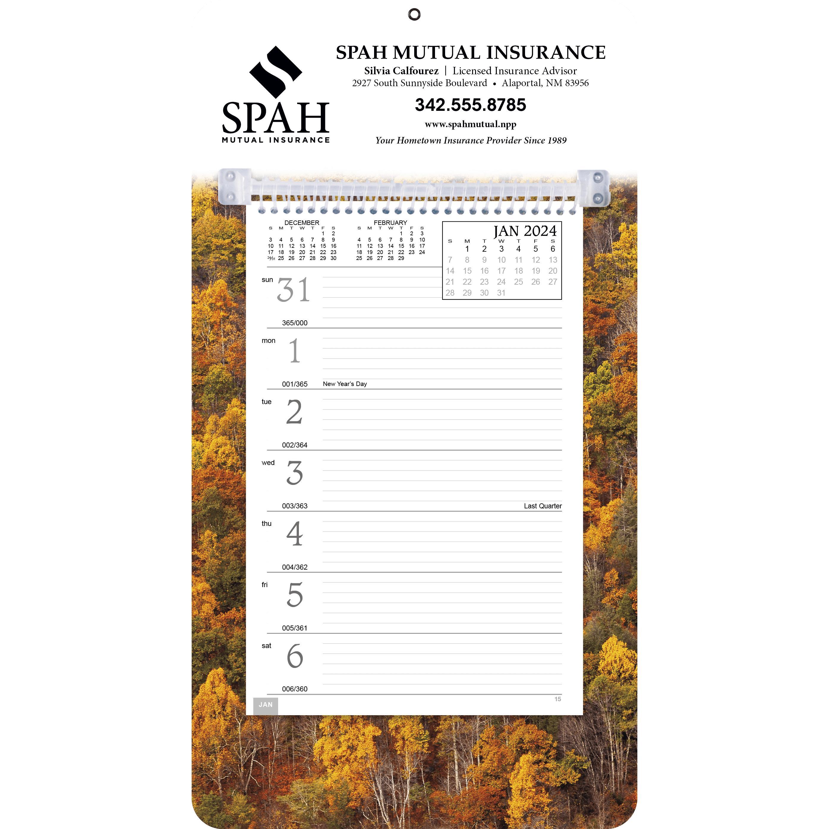 Custom Full-Color Weekly Memo Calendars