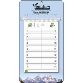 Imprinted Full-Color Bi-Weekly Memo Calendar