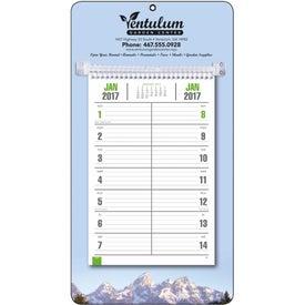 Imprinted Full-Color Bi-Weekly Memo Calendar
