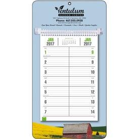Printed Full-Color Bi-Weekly Memo Calendar