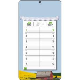 Full-Color Bi-Weekly Memo Calendar with Your Slogan