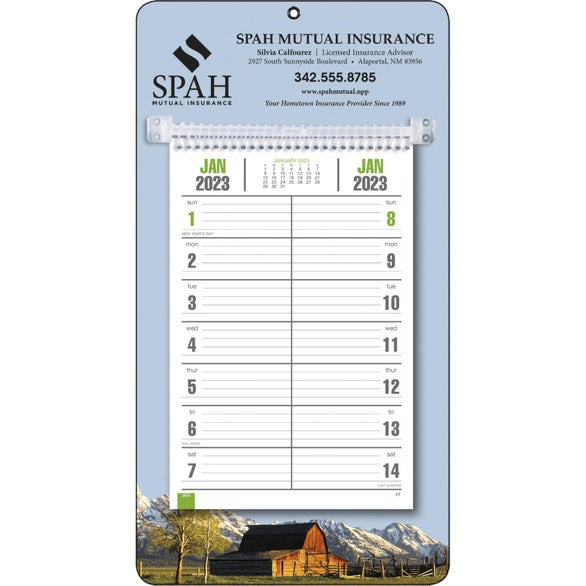 Full-Color Bi-Weekly Memo Calendar