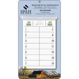 Bi-Weekly Memo Calendar with Wall Mount (2021)