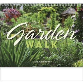 Garden Walk Spiral Calendar Imprinted with Your Logo
