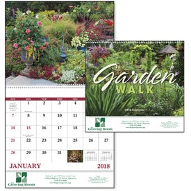 Garden Walk Spiral Calendar for Advertising
