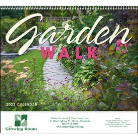 Garden Walk Spiral Calendar for Customization