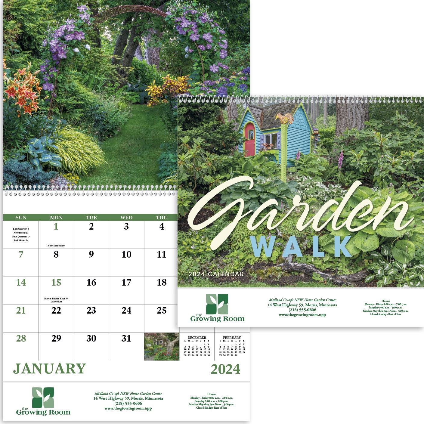 Garden Walk Calendar (2020, Spiral)