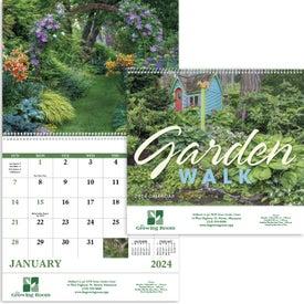 Garden Walk Spiral Calendar for Customization