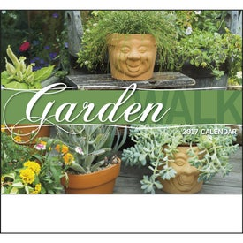 Garden Walk Stapled Calendar Branded with Your Logo