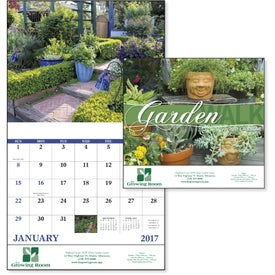 Personalized Garden Walk Stapled Calendar