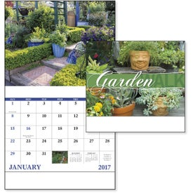 Garden Walk Stapled Calendar for Your Company