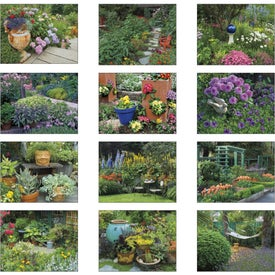 Imprinted Garden Walk Stapled Calendar
